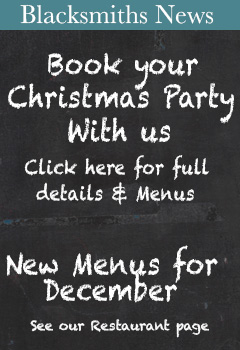 Blacksmiths News - Book your Christmas Party with us
