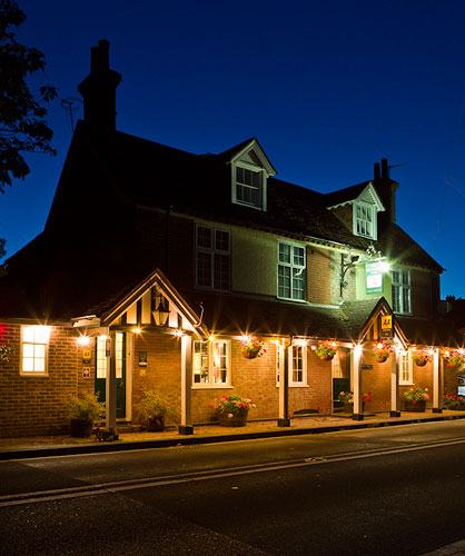 The Blacksmiths Arms at night