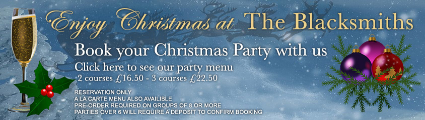 Christmas Party Menu - click here